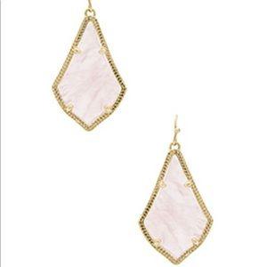Kendra Scott Alex Earrings in gold/rose quartz